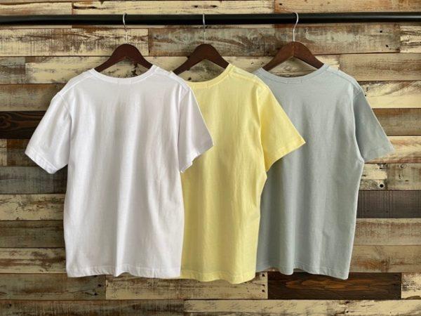 バックkoe(コエ)/抗菌防菌オーガニックコットンVネックTシャツ/バックシルエット