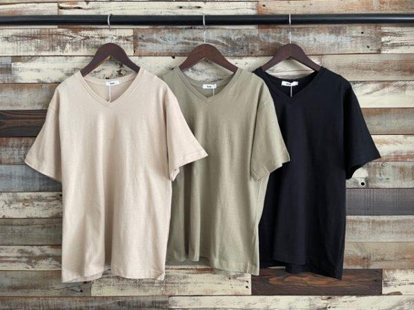koe(コエ)抗菌防菌オーガニックコットンVネックTシャツ