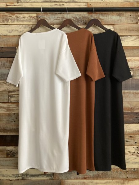 『スナップスリットロングTシャツ』バック/OSMOSIS(オズモーシス)