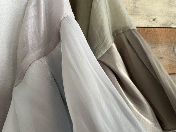 袖フリルテープリボンTシャツ/袖アップ