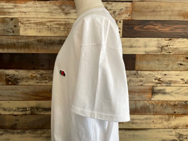 AULA AILA(アウラアイラ)フルーツオブザルーム×AULA AILAコラボTシャツ/ホワイト袖アップ