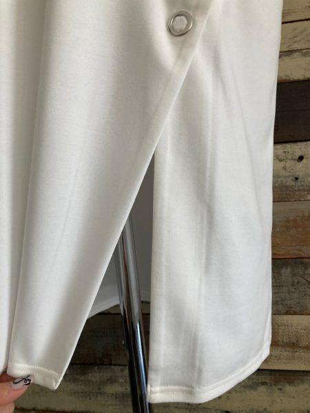 『スナップスリットロングTシャツ』スリットアップ/OSMOSIS(オズモーシス)