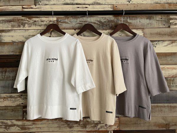 フロントロゴTシャツ/フロントロゴ/五分袖Tシャツ