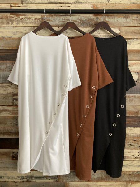 『スナップスリットロングTシャツ』OSMOSIS(オズモーシス)