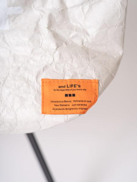 Tyvek tote bag(タイベックトートバッグ)/andLIFE's(アンドライフス)/タグ