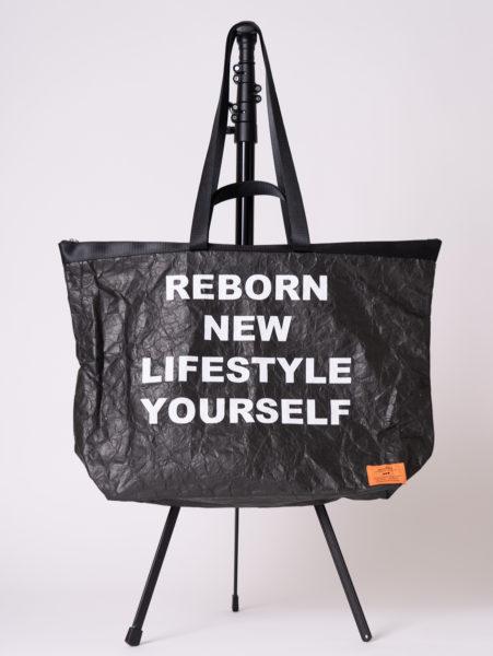Tyvek tote bag(タイベックトートバッグ)/andLIFE's(アンドライフス)/ブラック
