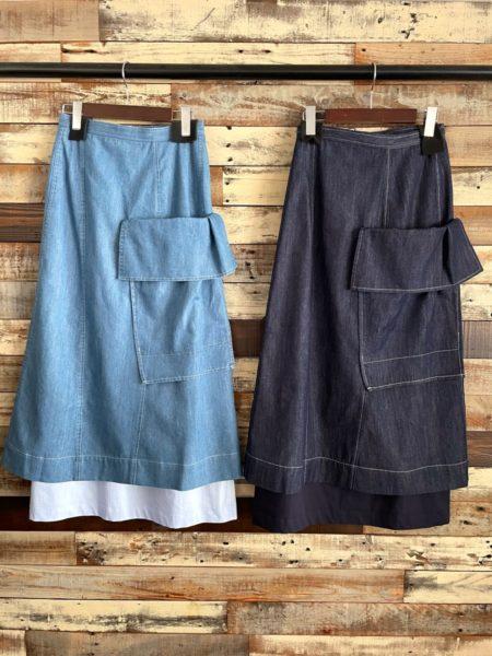 『LAYERED SKIRT』/レイヤードスカート/AULA AILA(アウラアイラ)/バック