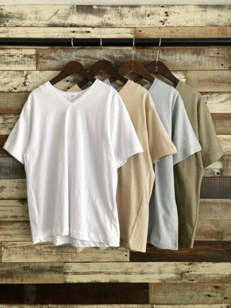 koe(コエ)/抗菌防菌オーガニックコットンVネックTシャツ