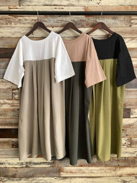 『バックタックサイドスリットロングTシャツ』フロント/OSMOSIS(オズモーシス)/バック