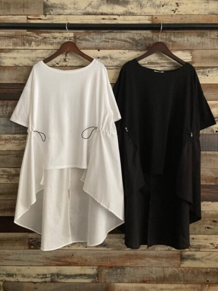 切替ドローコードTシャツ/OSMOSIS (オズモーシス)