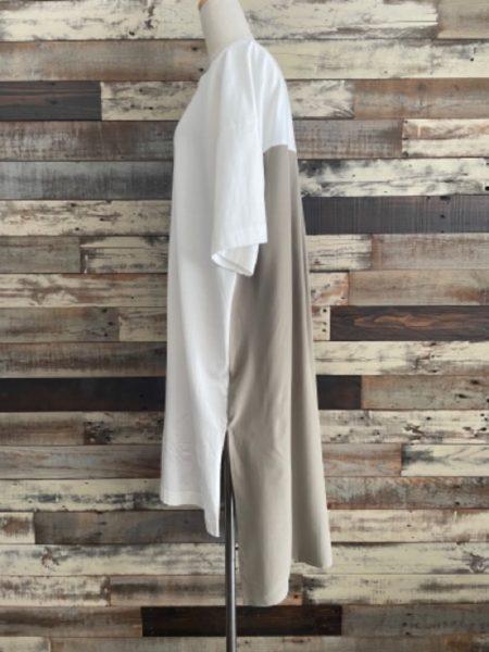 『バックタックサイドスリットロングTシャツ』フロント/OSMOSIS(オズモーシス)/サイド