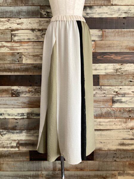 カラーブロックフレアースカート/OSMOSIS (オズモーシス)