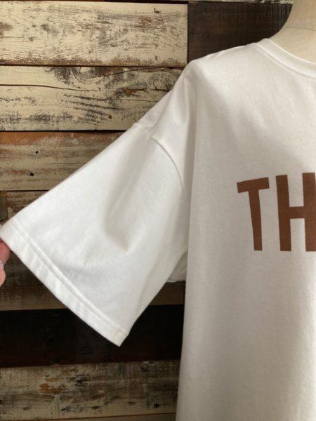 OSMOSIS (オズモーシス)ロゴプリントTシャツ/袖アップ