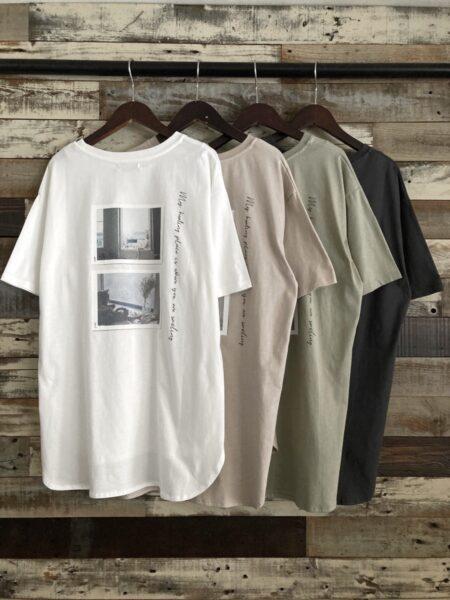 バックフォトプリントTシャツ/バック