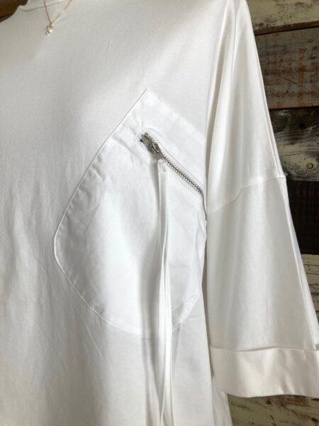 ジップポケットドルマンTシャツ/ポケットアップ