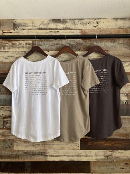 オーガニックコットンロゴTシャツ/バック