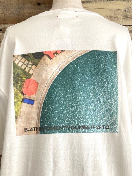 バックフォトプリントTシャツ/アップ