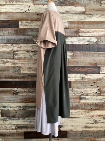 バックサイドスリットロングTシャツ/バックサイドコーディネート/OSMOSIS (オズモーシス)
