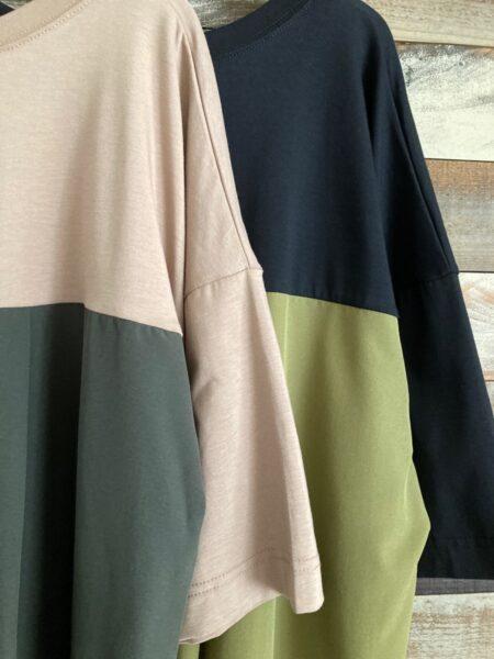 バックサイドスリットロングTシャツ/アップ/OSMOSIS (オズモーシス)